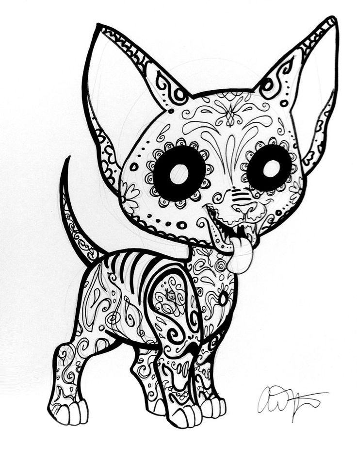 Mexican Skull Coloring Pages