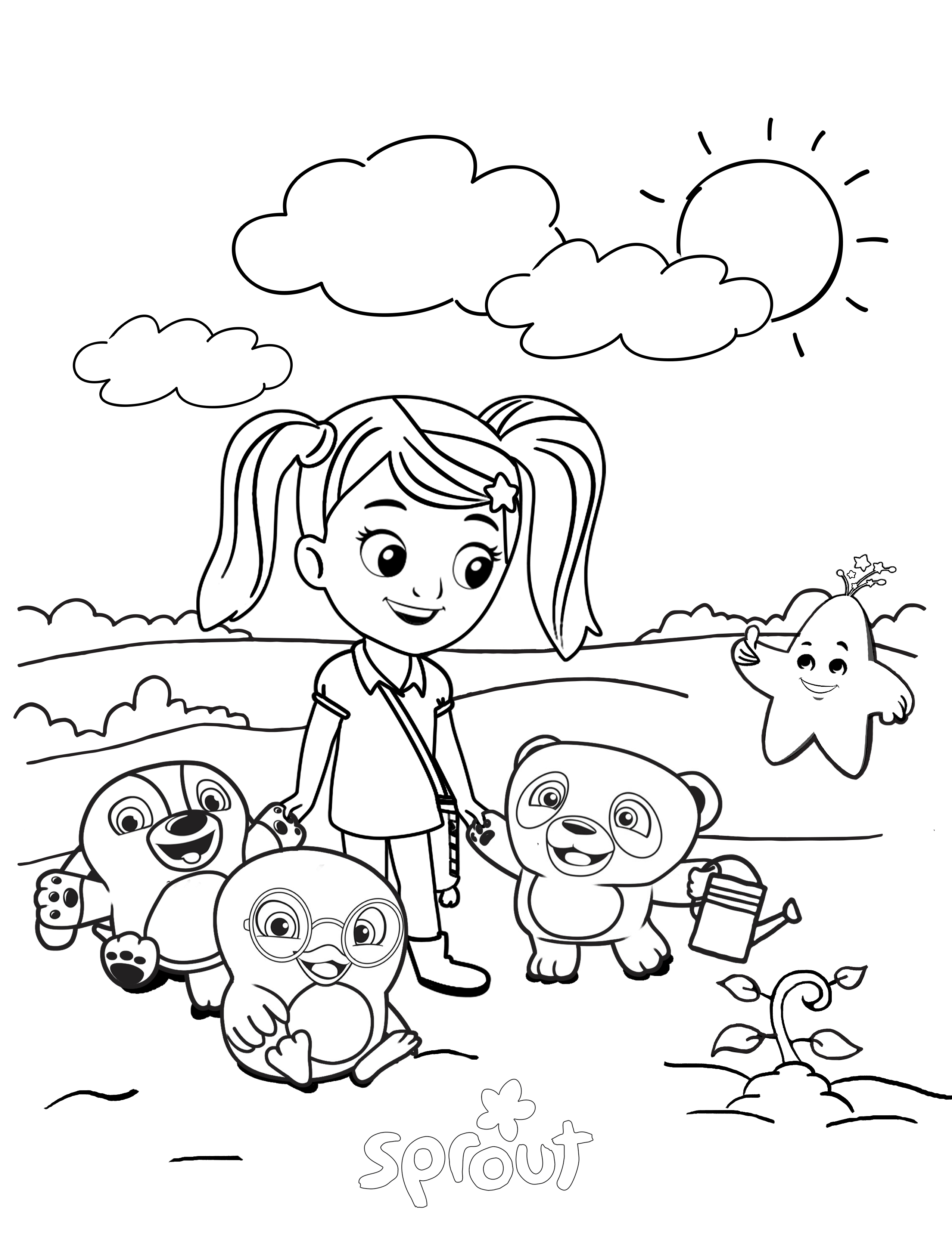 sprouts tv coloring pages - photo#41