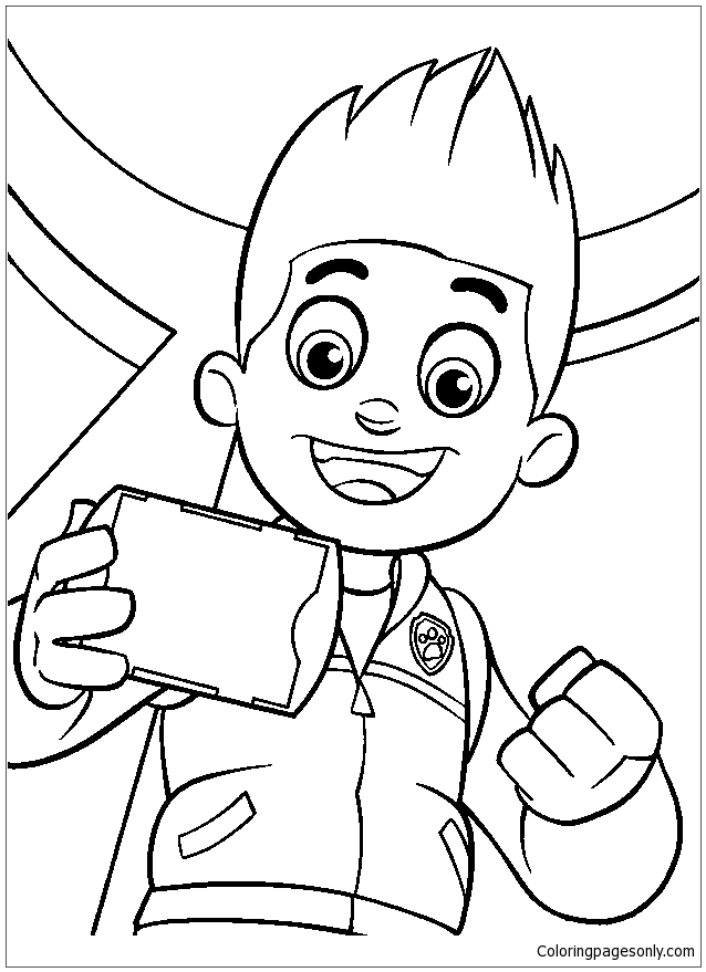 Ryder - Boy Paw Patrol Coloring Page - Free Coloring Pages Online
