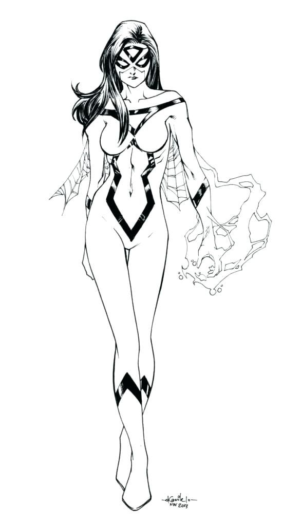 Spider Woman Coloring Pages Spider Girl Coloring Pages ...