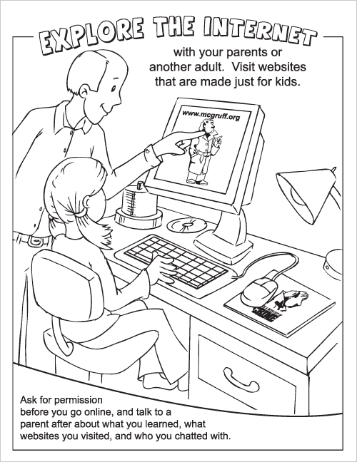 Internet Safety Coloring Page - Coloring Home