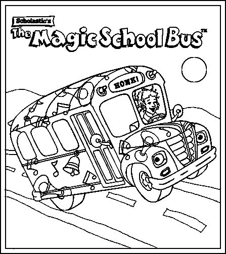 Magic School Bus Coloring Page Coloring Home