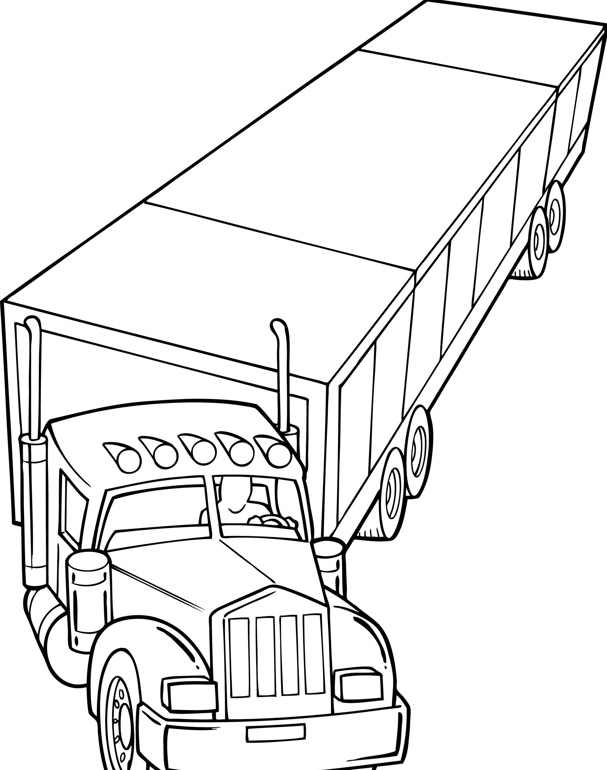 eighteen wheeler coloring pages - photo#4