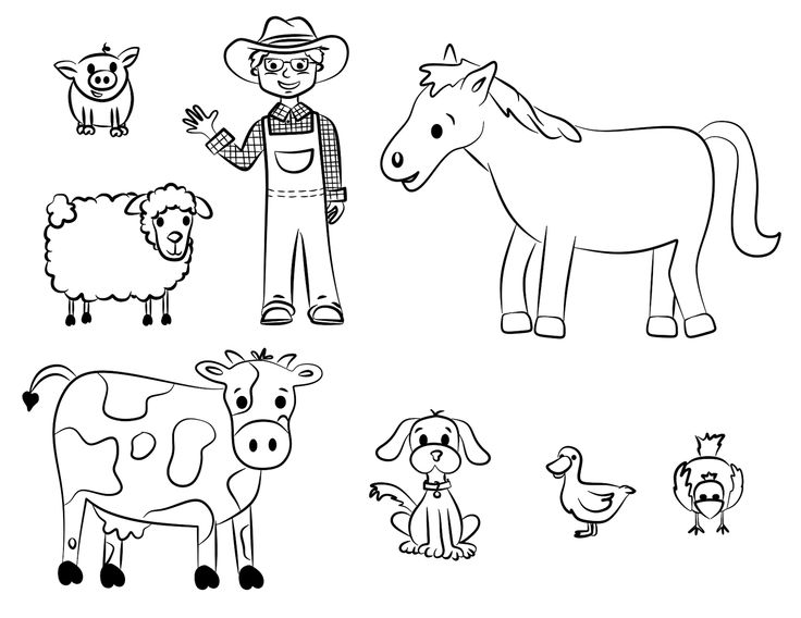 Old Macdonald Had A Farm Coloring Pages - Coloring Home A Coloring Page
