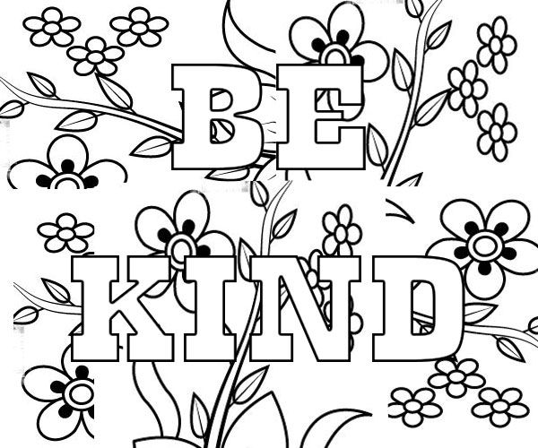 - Be Kind Coloring Pages - Coloring Home