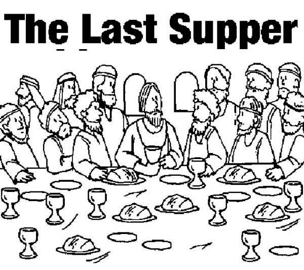 picture of the last supper coloring page kids play color