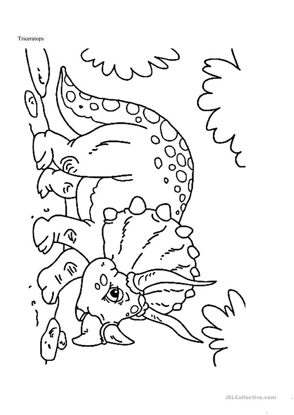 Dinosaur Coloring Pages - English ESL Worksheets - Coloring Home