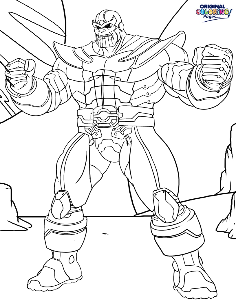 The best free Thanos coloring page images. Download from 39 ...