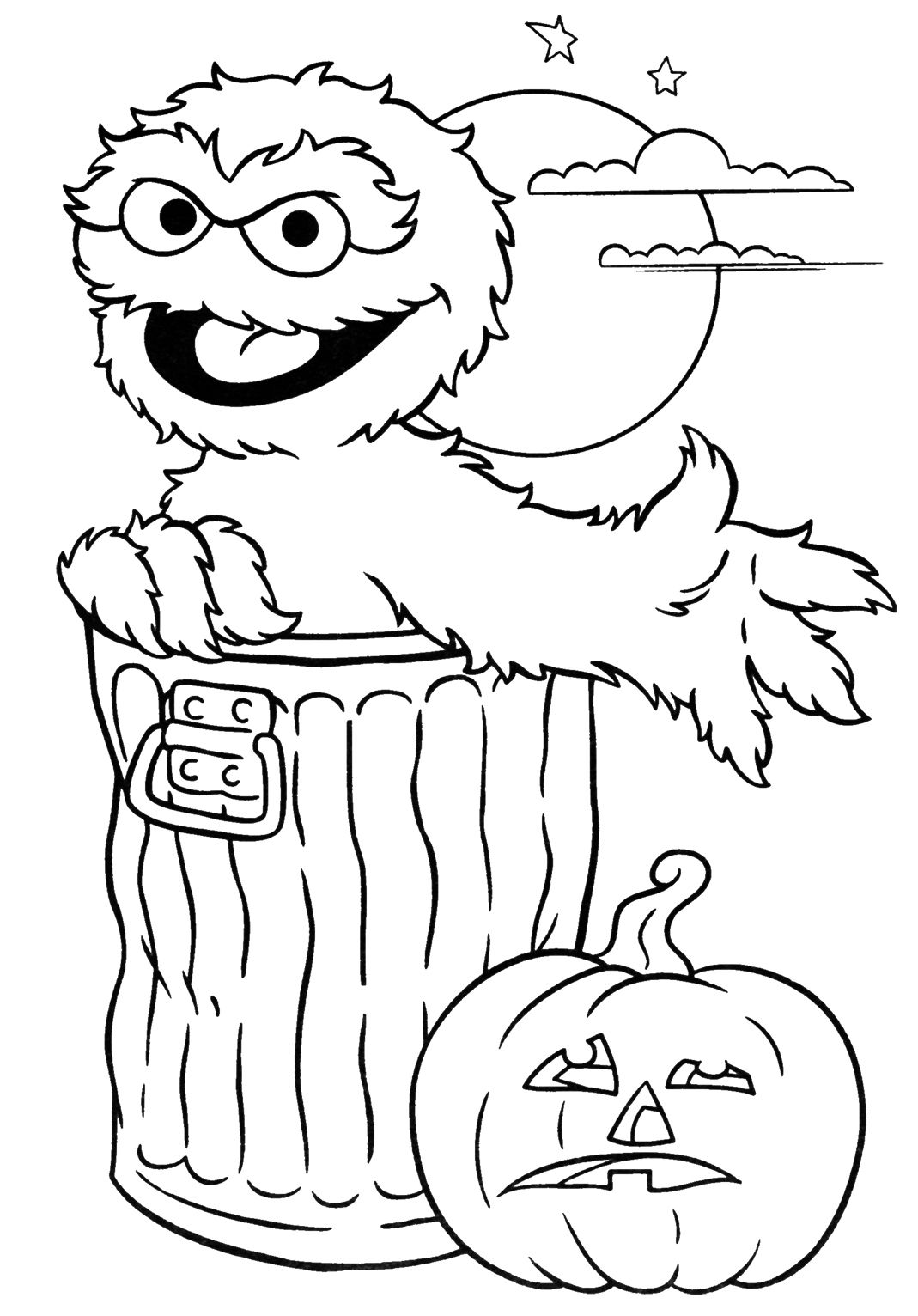 coloring pages oscar the grouch - photo#21