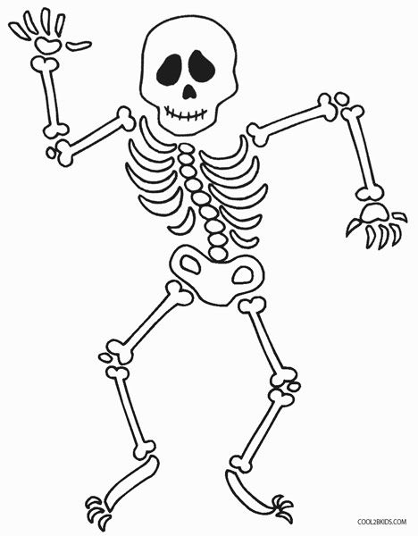 Skeleton coloring page az coloring pages for Skeleton coloring pages to print