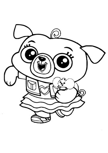 chip and potato coloring pages black and white - Google Search | Black and  white google, Coloring pages, Hello kitty