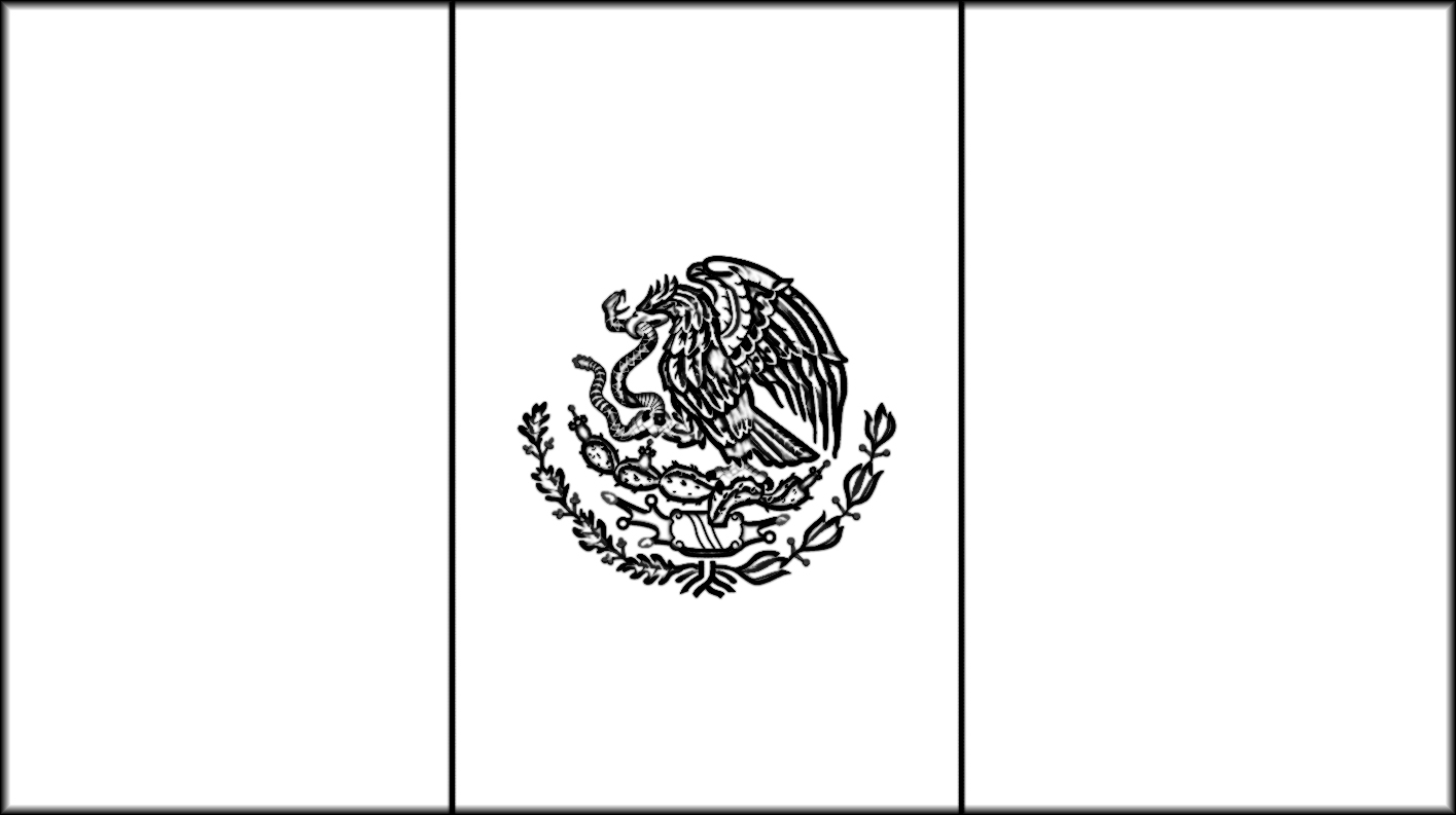 Mexican flag eagle outline the image for Mexican flag coloring page