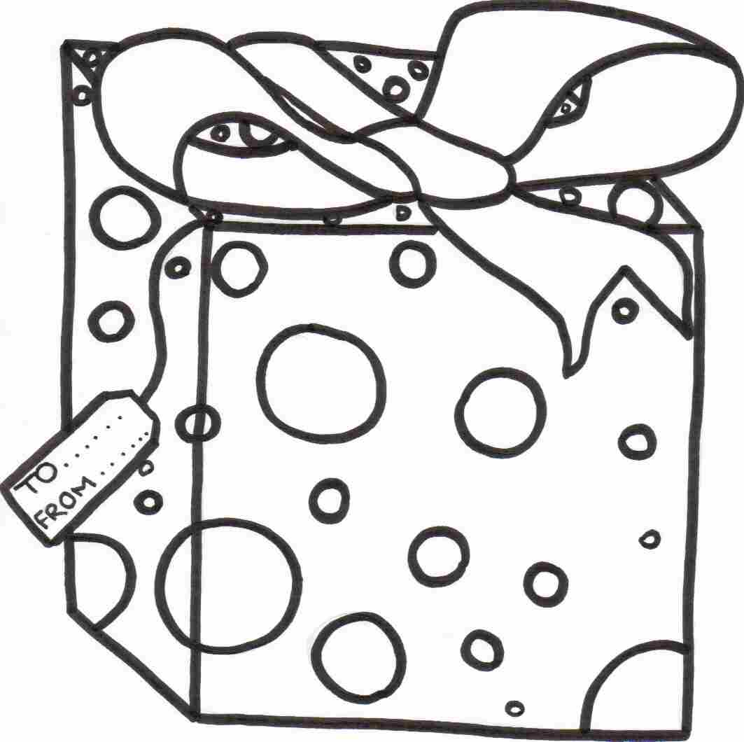 christmas gift coloring sheet - Christmas Presents Coloring Pages
