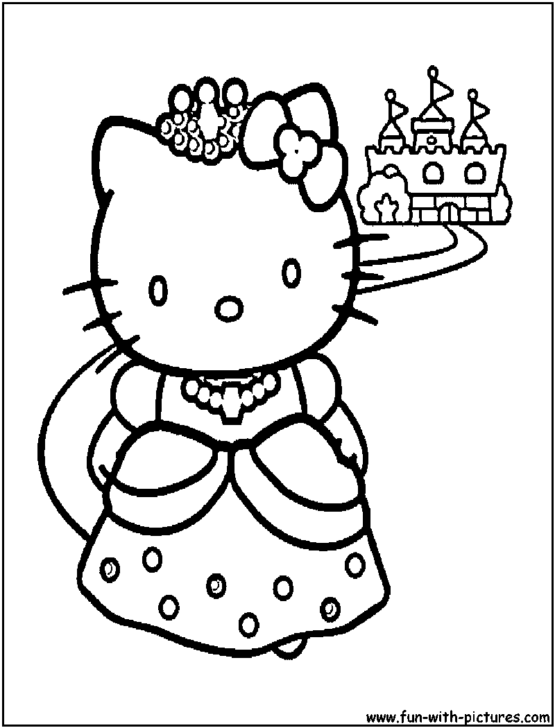 Princess Kitten Coloring Pages : Princess kitten coloring pages home