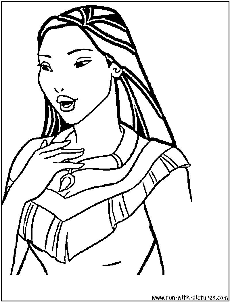 Princess Pocahontas Coloring Pages - Coloring Home