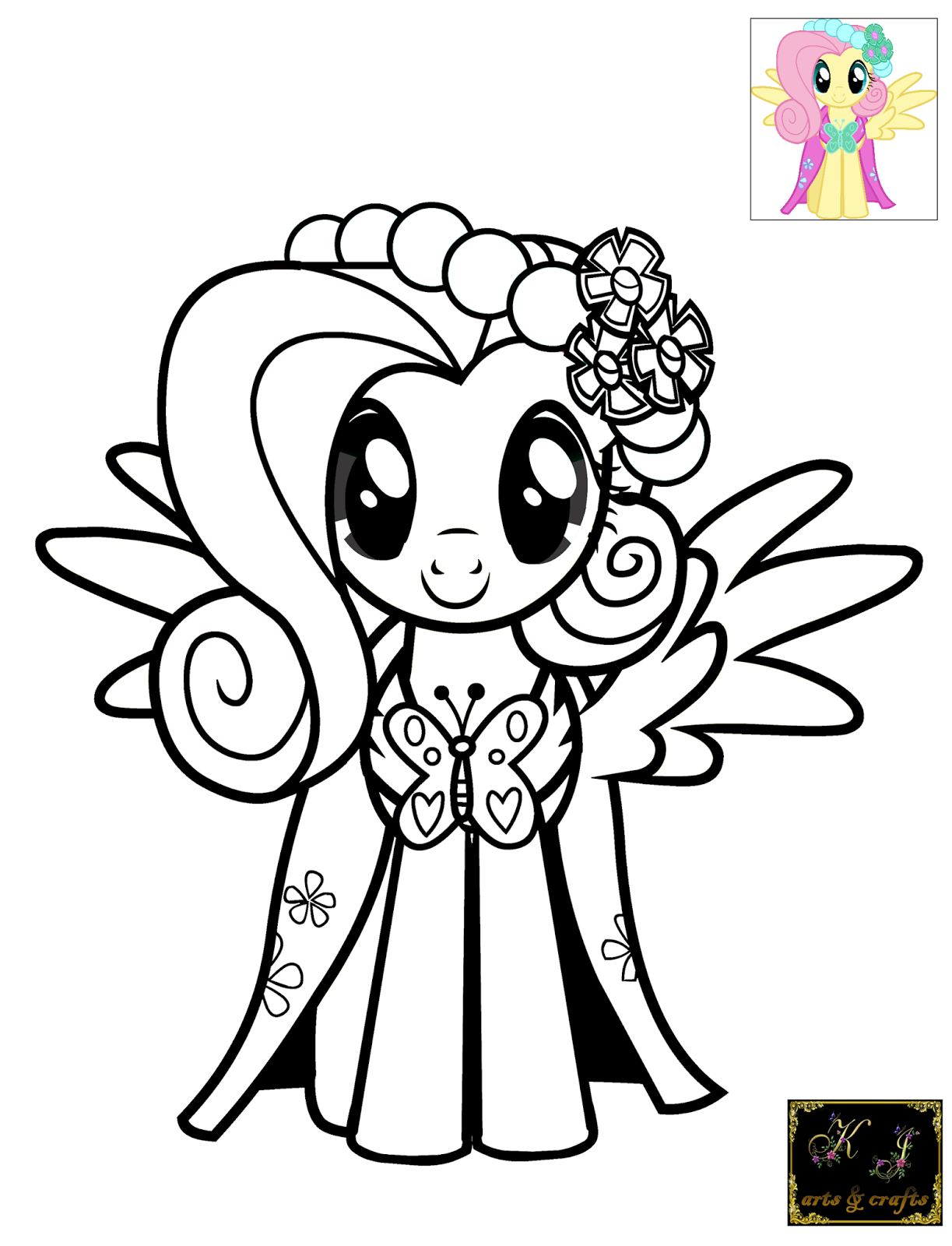 fluttershy coloring page - fluttershy coloring pages coloring home