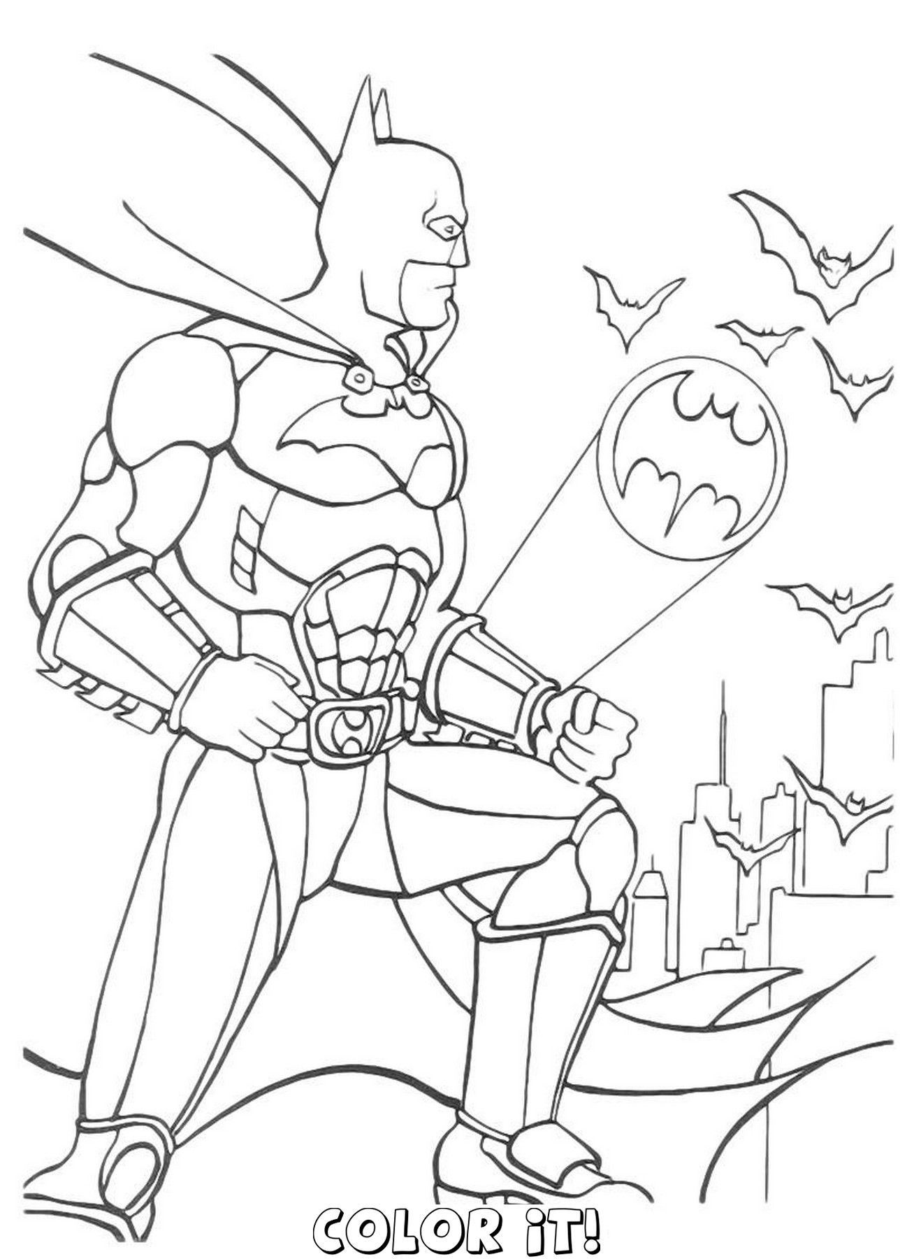 Amazing Of Best Batman Coloring Pages And Robin Co 358