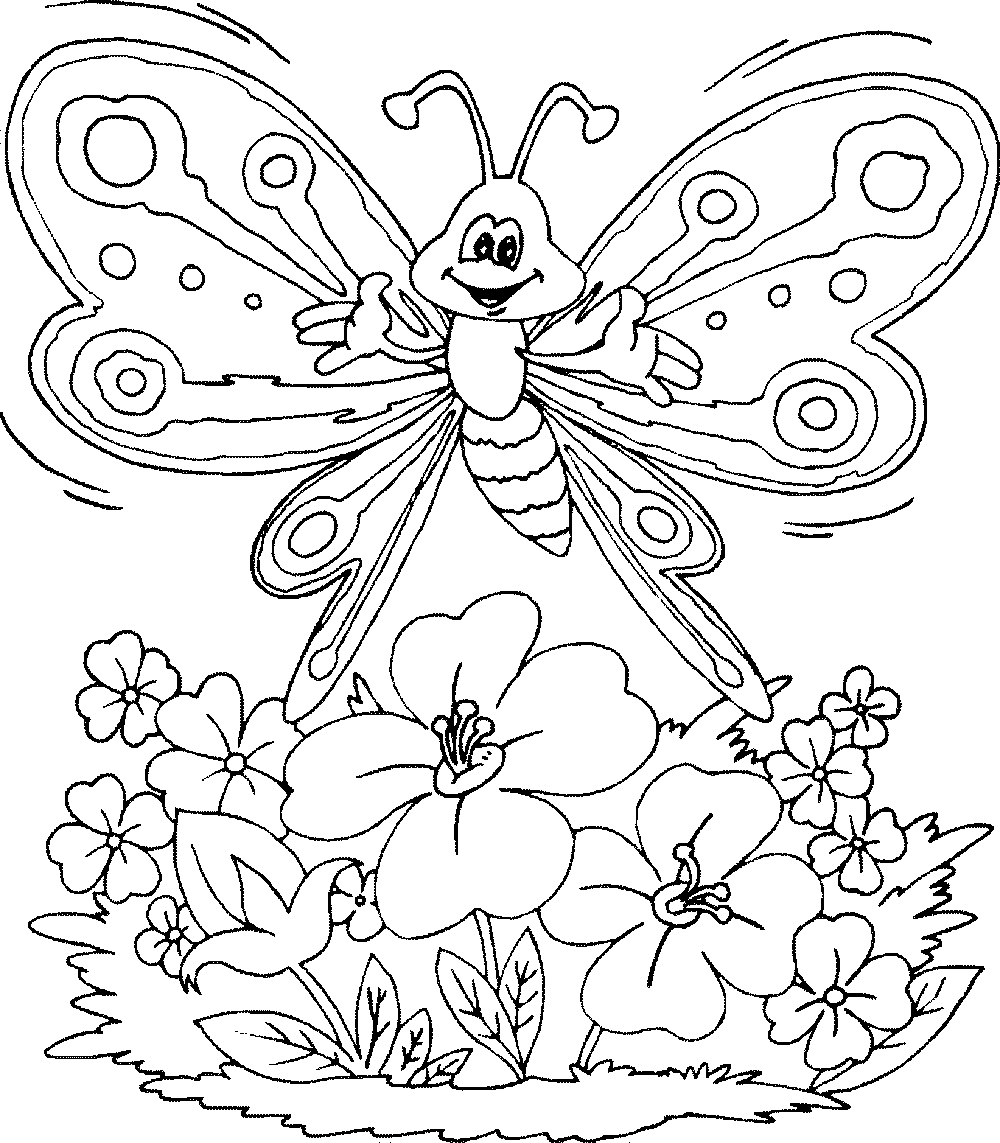 Girls Flowers Coloring Pages