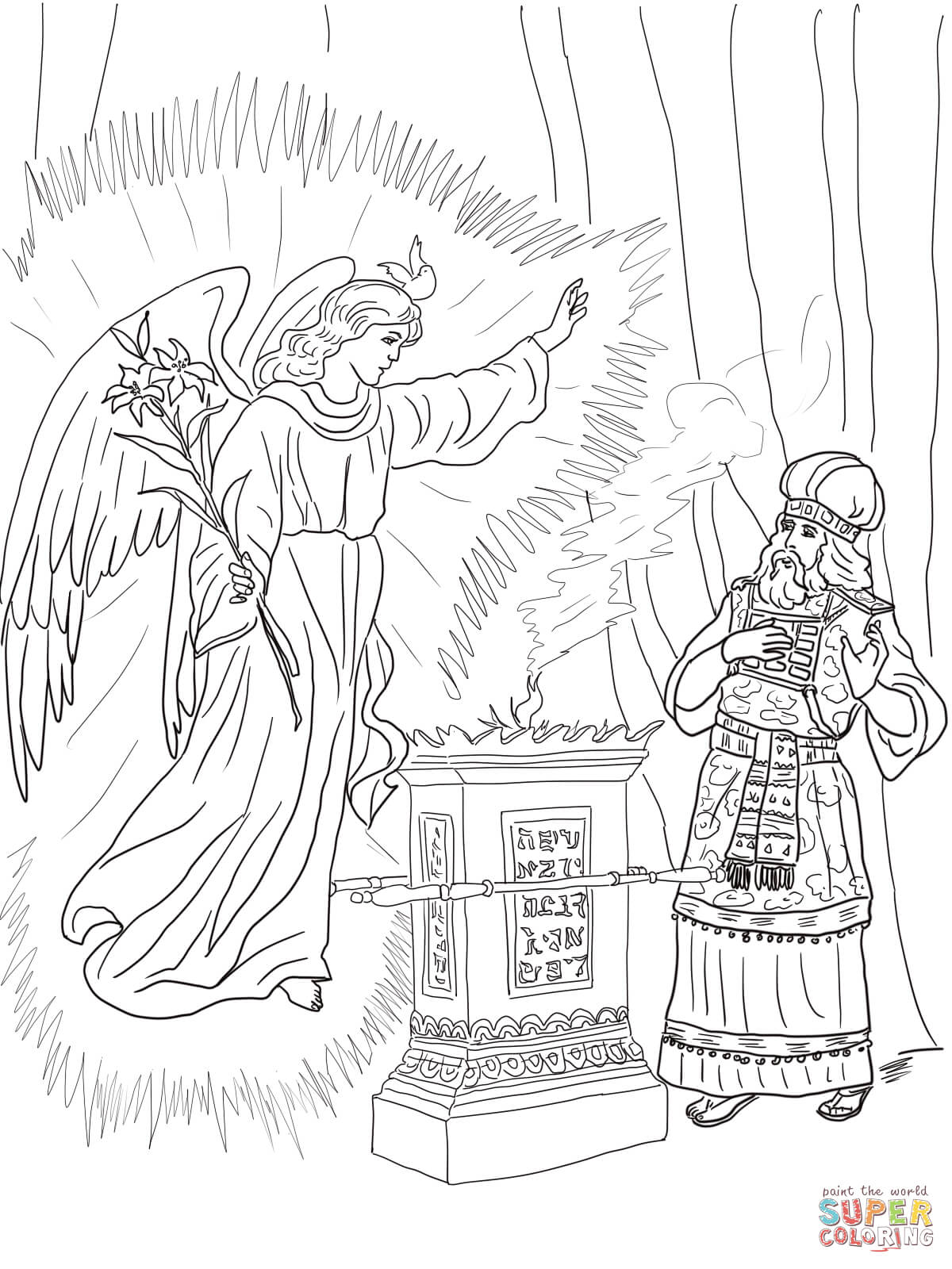 elizabeth bible coloring pages - photo#23