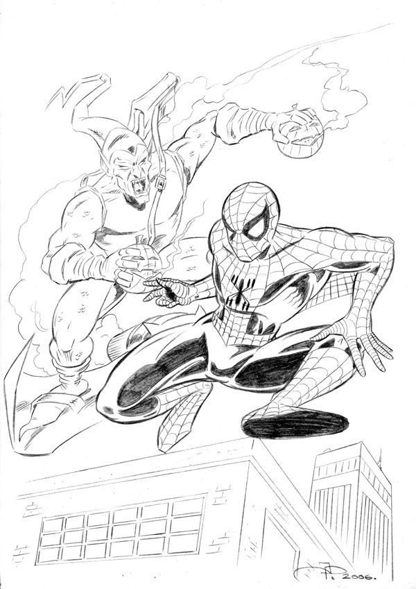 spiderman green goblin coloring pages - photo#24
