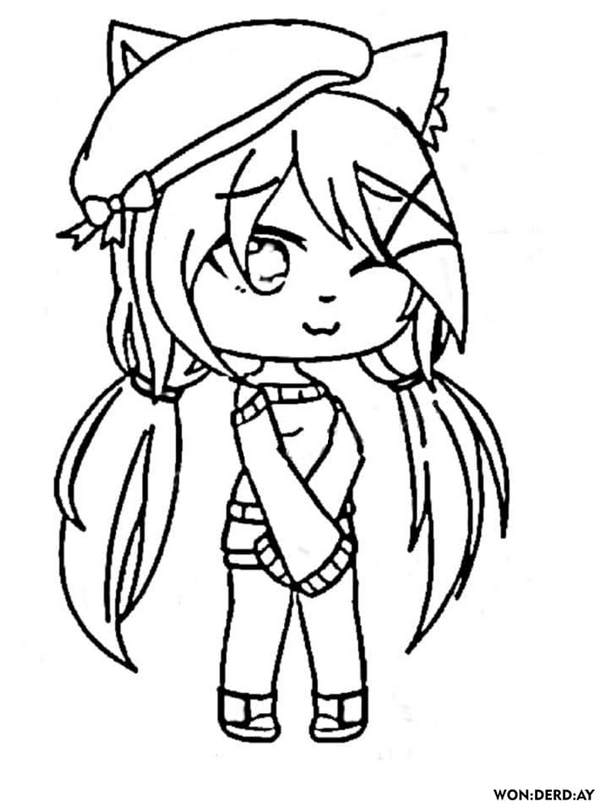 Gacha Life Coloring Pages Coloring Home