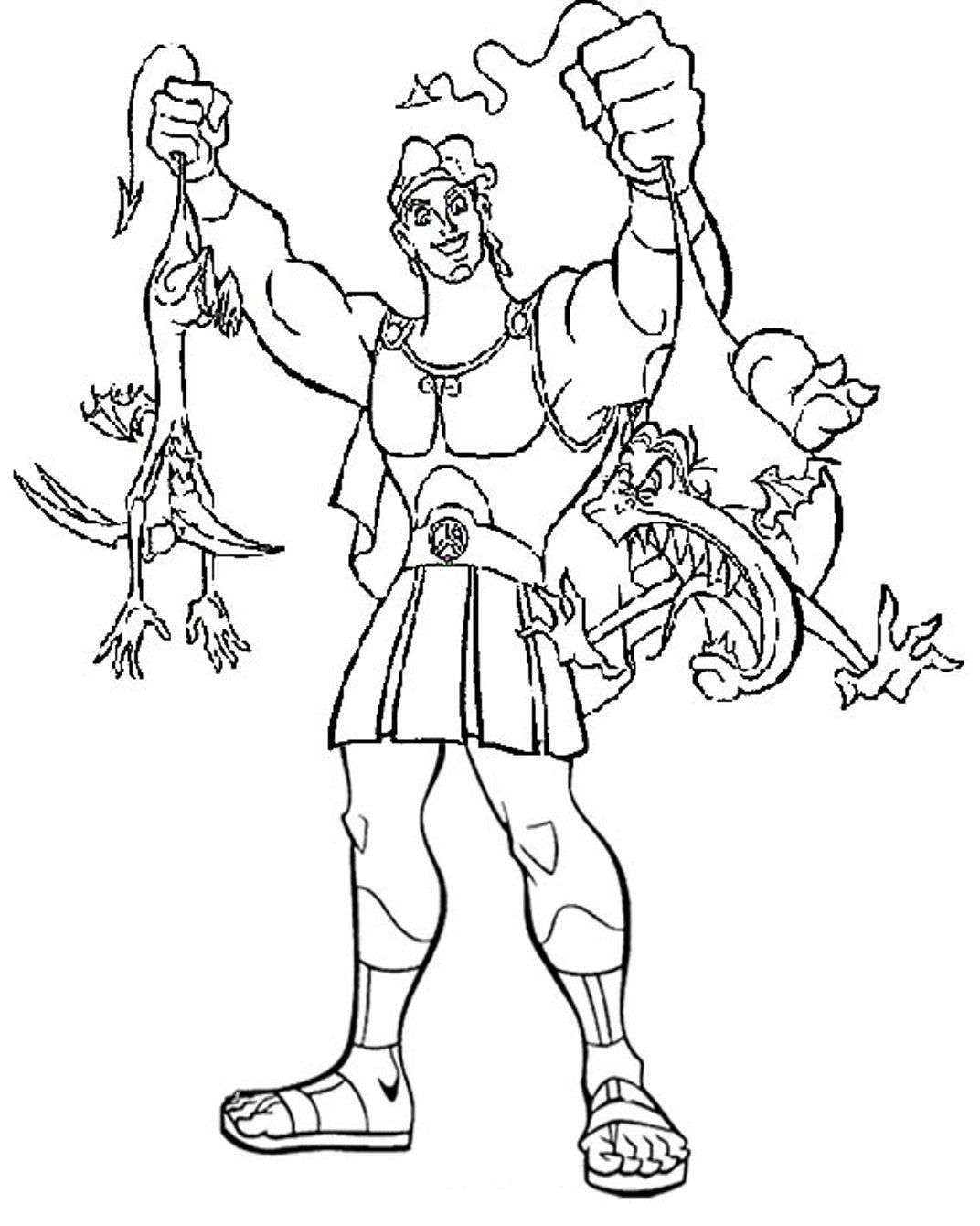 Printable Hercules Coloring Pages | Coloring Me - Coloring Home