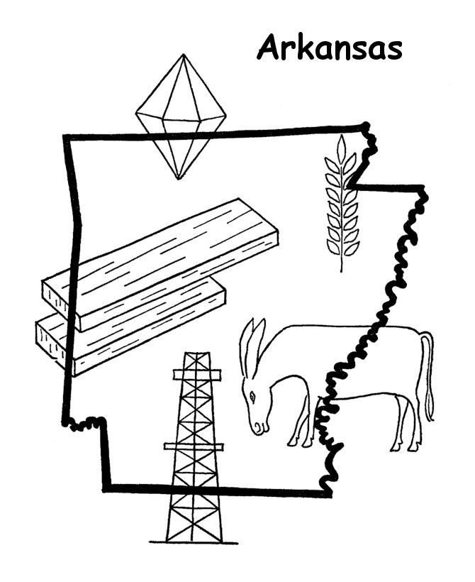 Best photos of arkansas flag coloring page arkansas for Arkansas state flag coloring page