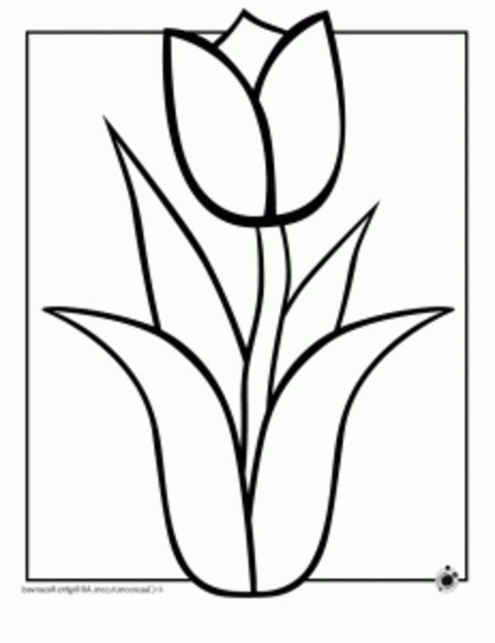 easy flower coloring pages easy flower coloring pages coloring home