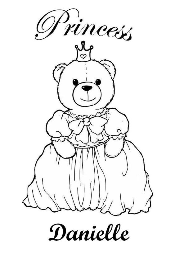 Coloring Pages Girls Names: Danielle - Coloring Home
