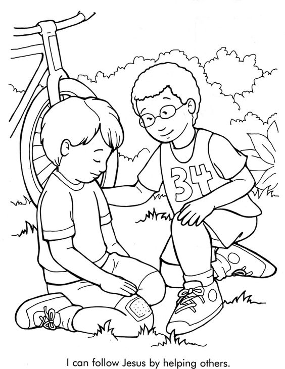 Helping others coloring page coloring home for Coloring pages of helping others