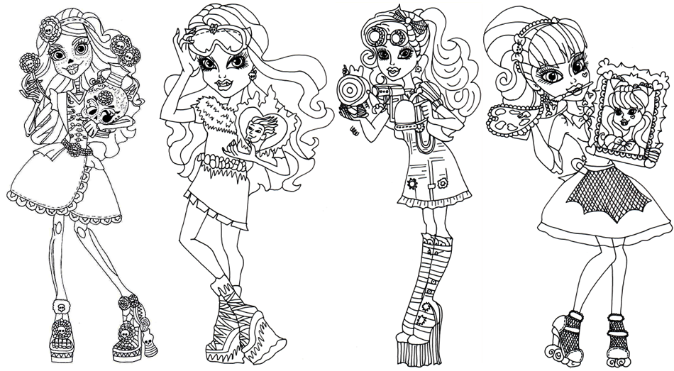 monster high coloring pages  az coloring pages, printable coloring