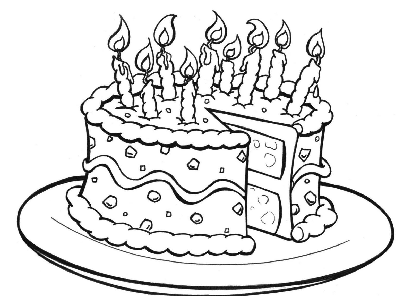Pleasing Printable Birthday Cake Coloring Pages Kids Colorine Net 4965 Funny Birthday Cards Online Alyptdamsfinfo