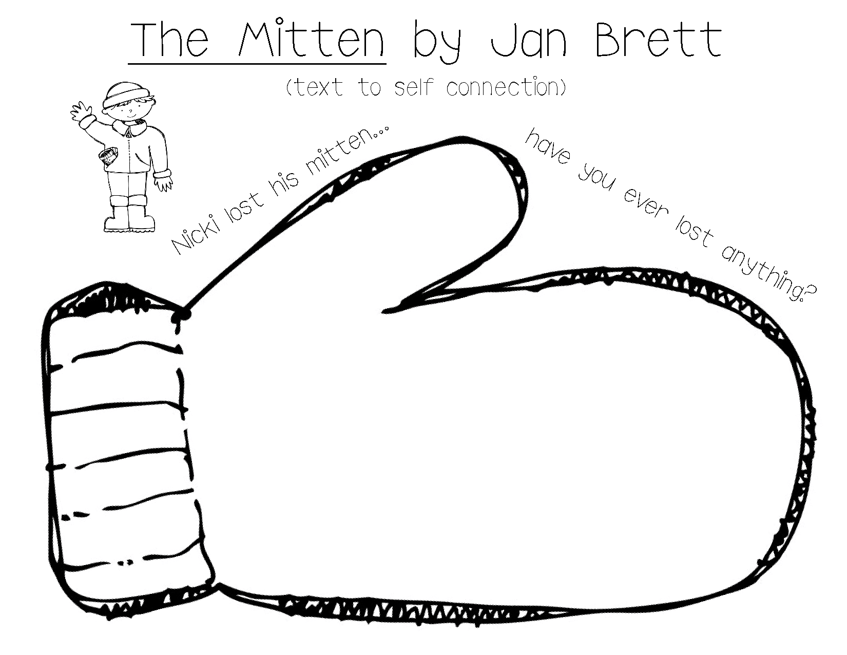 Jan Brett The Mitten Coloring Pages Coloring Home The Mitten Coloring Page