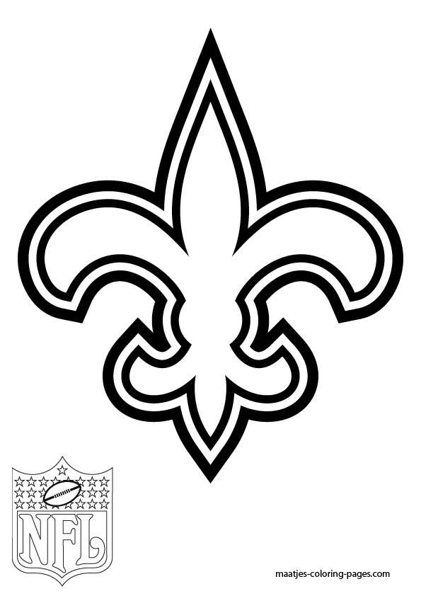new orleans saints coloring pages for adults | New Orleans Saints Coloring Page - Coloring Home