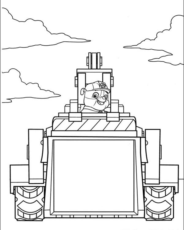 Rabble Construction Truck - Paw Patrol Coloring Pages