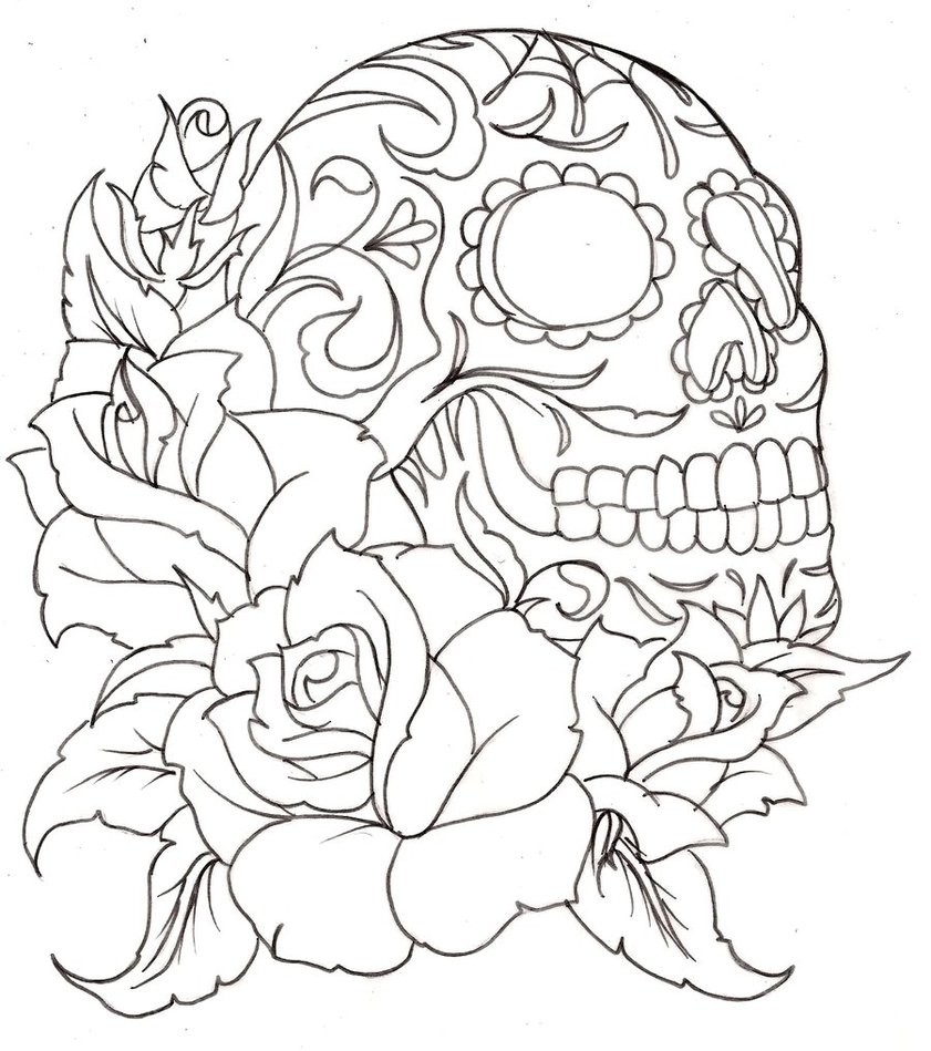 sugar skull coloring page coloring home. Black Bedroom Furniture Sets. Home Design Ideas