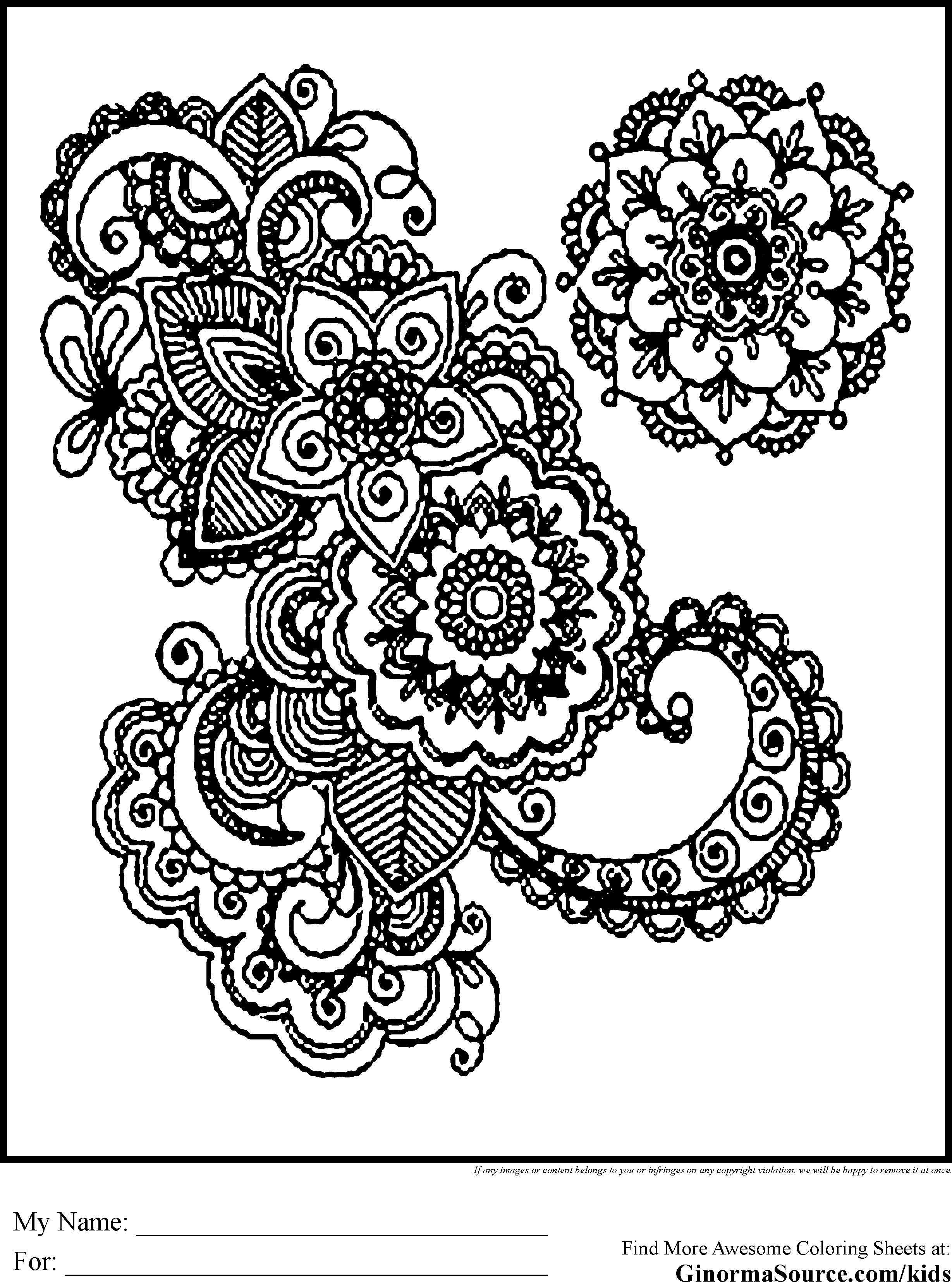kids coloring pages intricate designs - photo#41