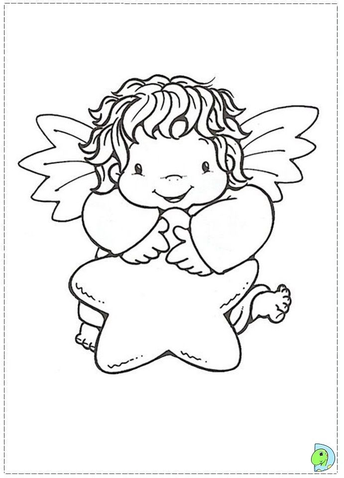 christmas angel coloring page az coloring pages