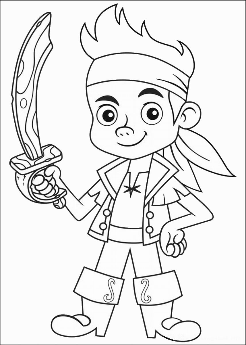 Jake and the Neverland Pirates Coloring Pages | Disneyclips.com | 1200x857
