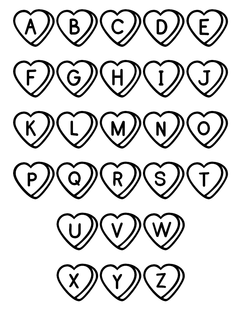 free printable alphabet coloring pages a z coloring home