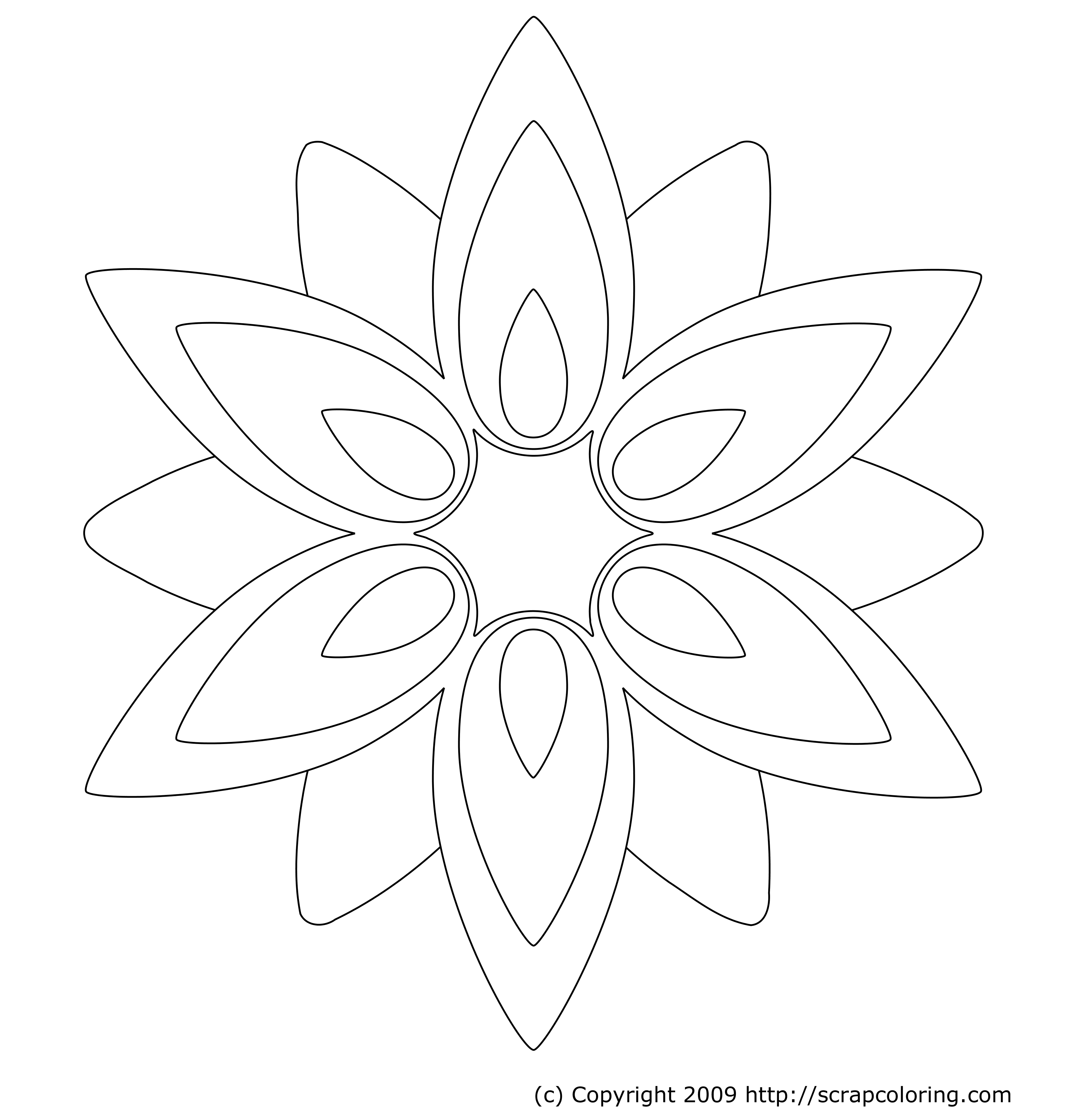 Adult Cute Geometric Flower Coloring Pages Images cute geometric flower coloring pages az rose window page gallery images