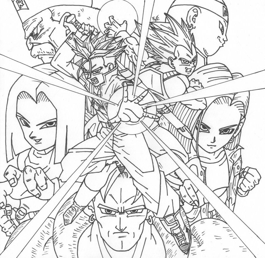 dragon ball coloring pages deviantart