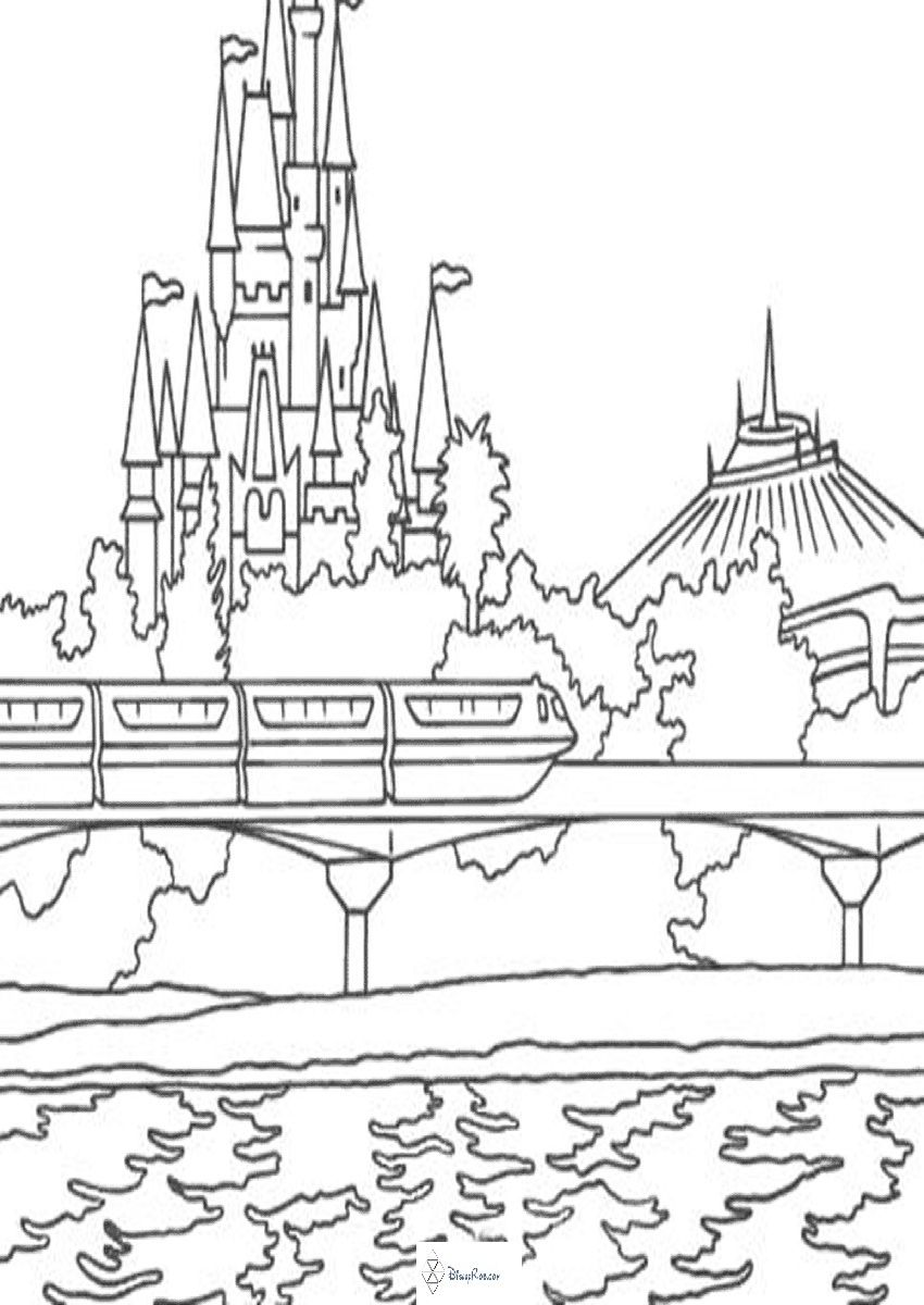 Disney world castle coloring page - a-k-b.info