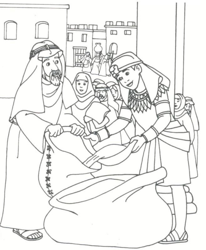 Abraham Coloring Pages Genesis Father Of Many Nations Joseph