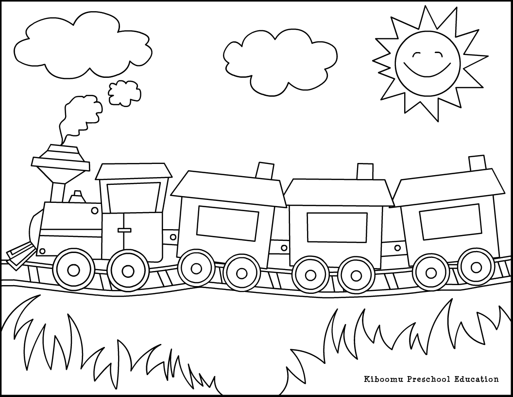 printable christmas train coloring pages - photo#18