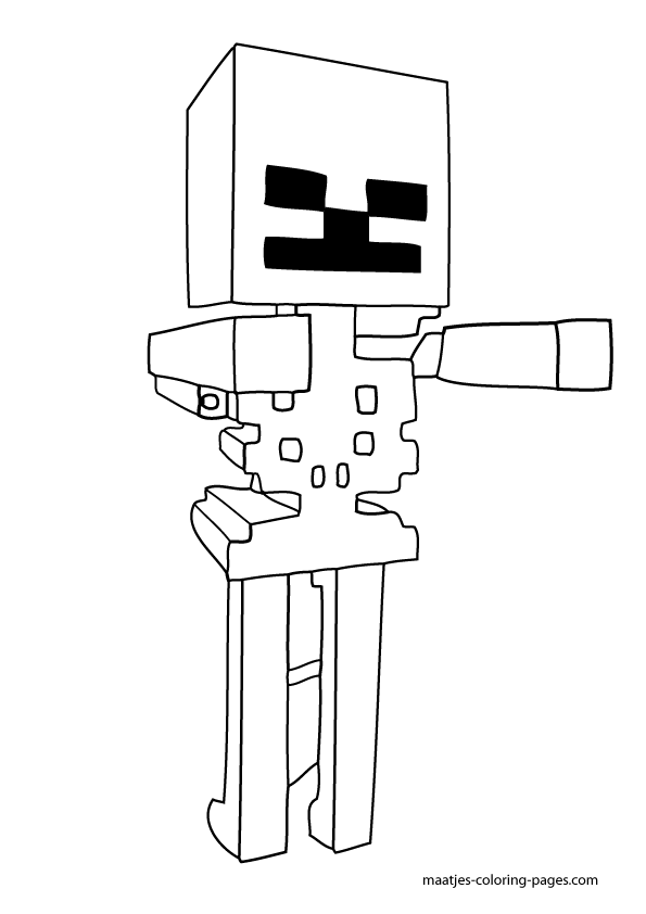 15 Pics of Minecraft Skeleton Coloring Pages To Print - Minecraft ...