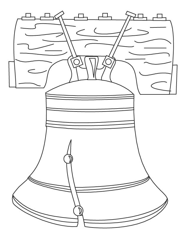 Liberty Bell Coloring Page Printable