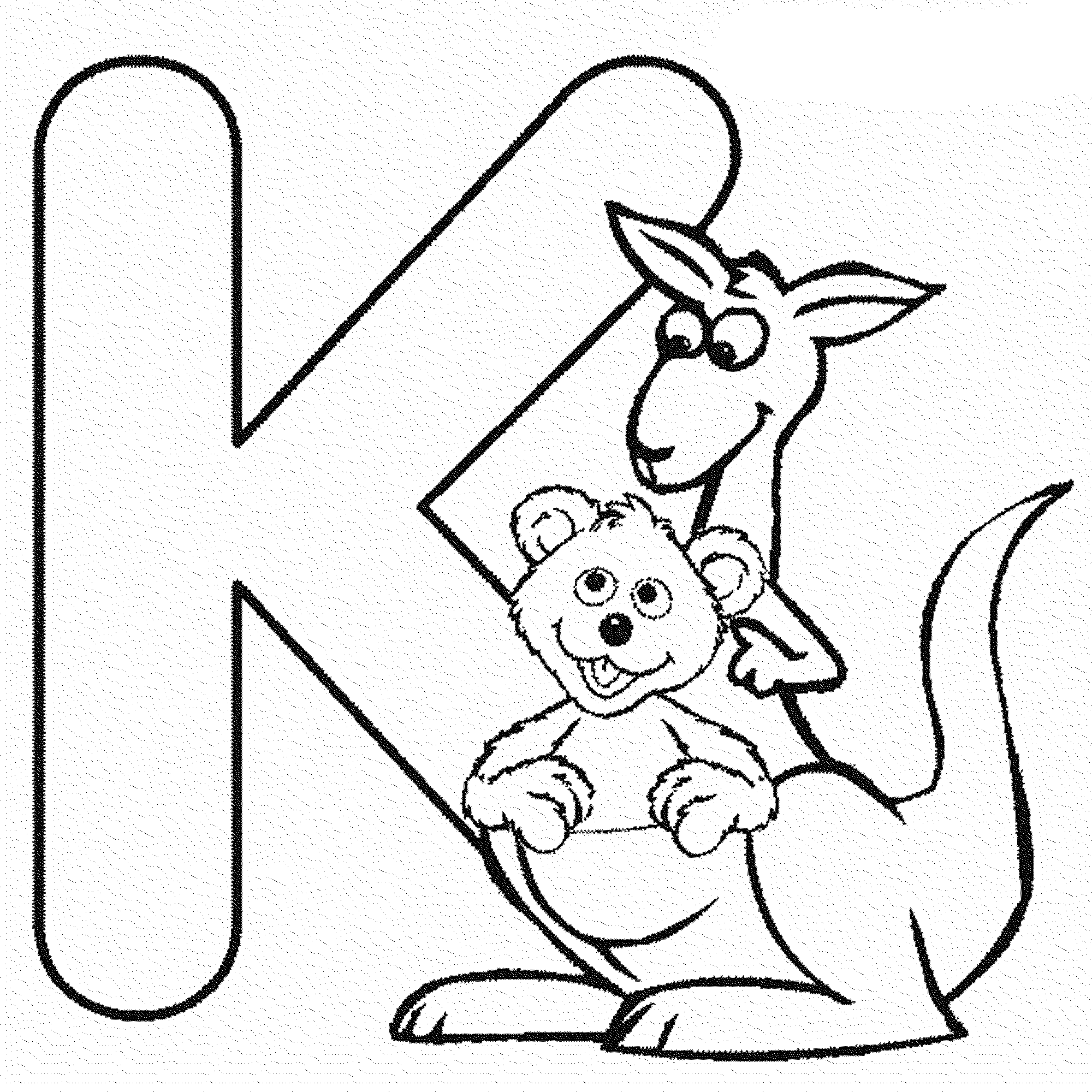 the letter k coloring pages coloring home