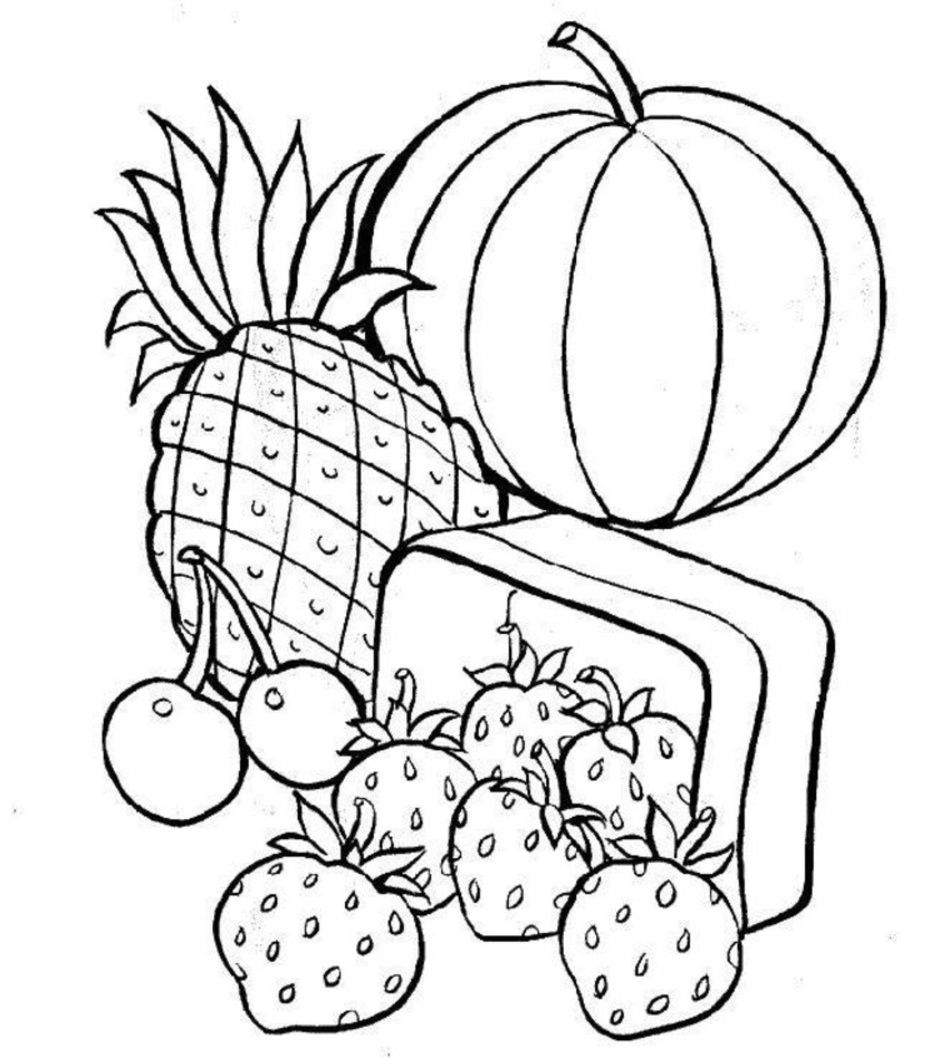 Food Pyramid Coloring Page For Preschoolers - Coloring Home