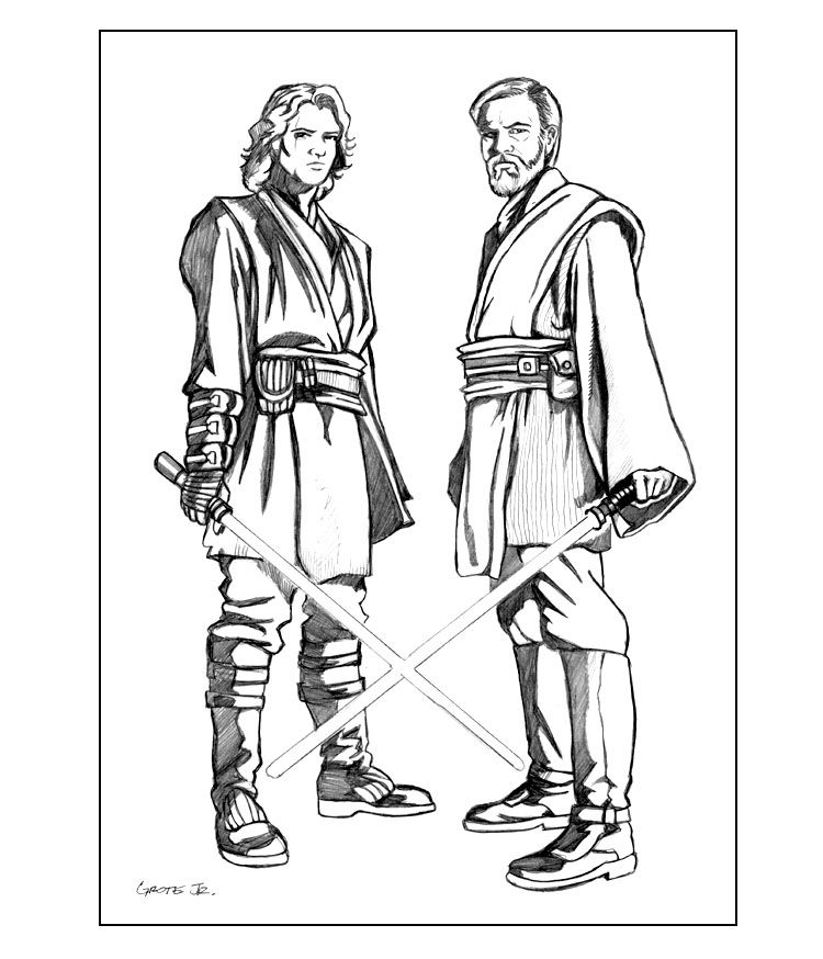 Lego star wars anakin coloring pages